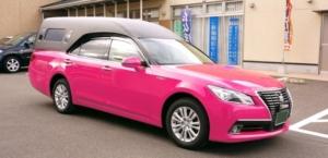 ピンク霊柩車